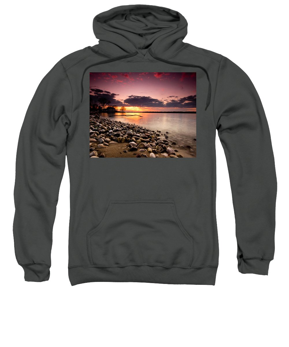 Sunset Sweatshirt featuring the photograph Sunset On The Rocks by Cale Best