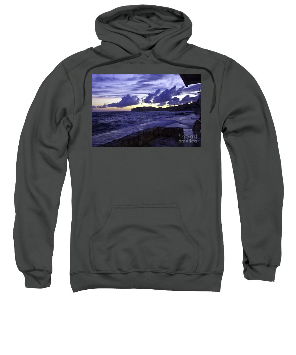 Sunset Sweatshirt featuring the photograph Sunset Over Dubrovnik by Madeline Ellis