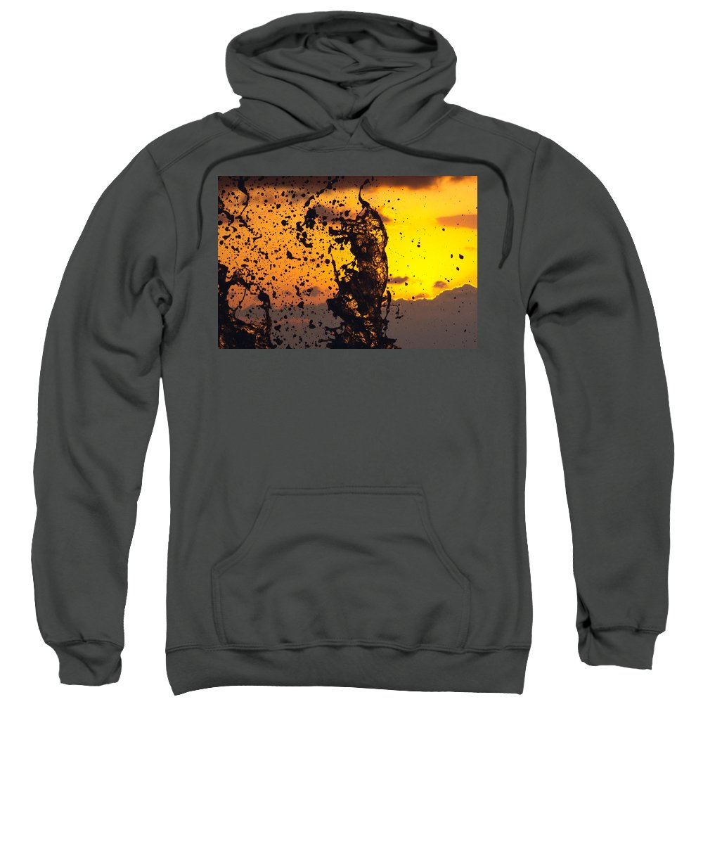 Sun Sweatshirt featuring the photograph Sunset Splash 3 by Bill Lindsay