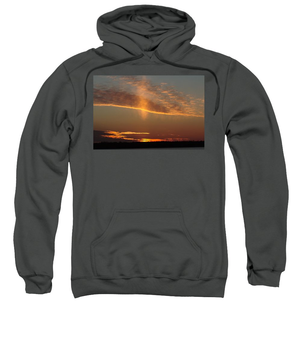 Sky Sweatshirt featuring the photograph Sunset With Mist by Daniel Reed