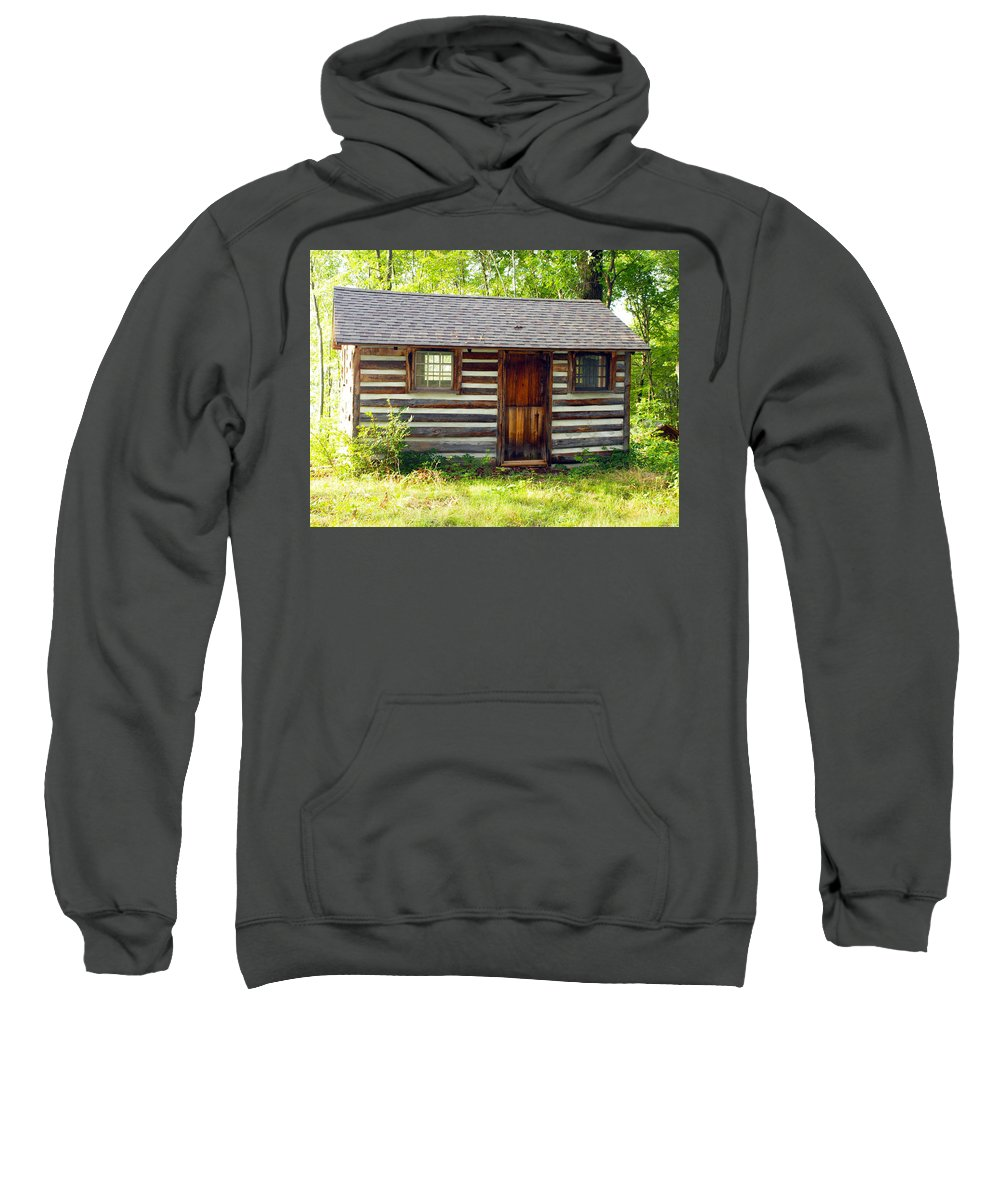 Farm Animals Sweatshirt featuring the photograph Sunshine On The Little Cabin by Robert Margetts