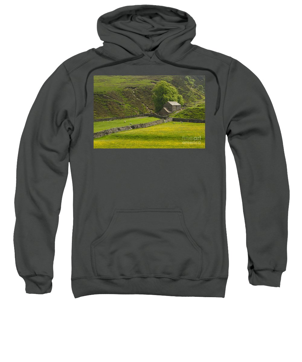 Field Sweatshirt featuring the photograph Swaledale by Louise Heusinkveld