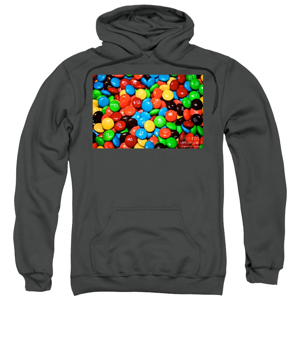 Treats Sweatshirt featuring the painting Tasting Color by Susan Herber