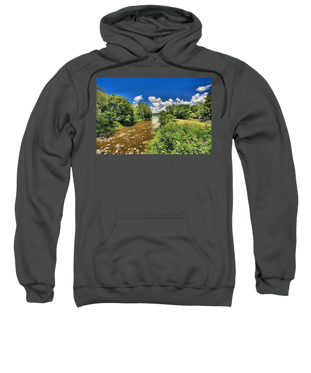 Taughannock Falls State Park Sweatshirt featuring the photograph Taughannock Falls Creek by Adam Jewell