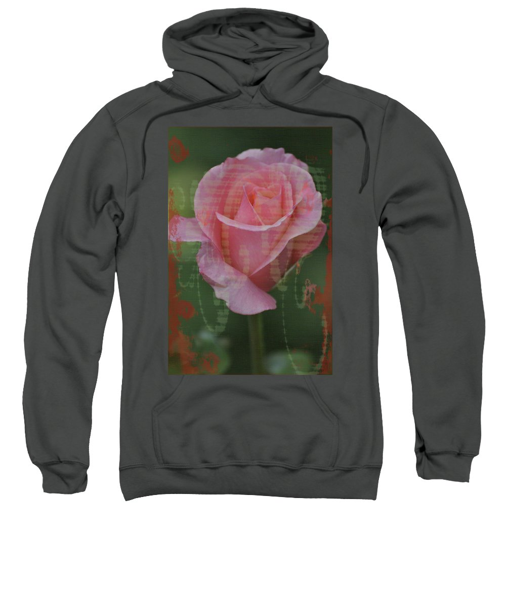 Tea Rose Sweatshirt featuring the photograph Tea Rose - Asia Series by Mary Machare