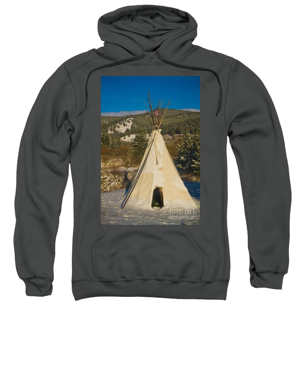 Snow Sweatshirt featuring the photograph Teepee In The Snow 2 by James BO Insogna