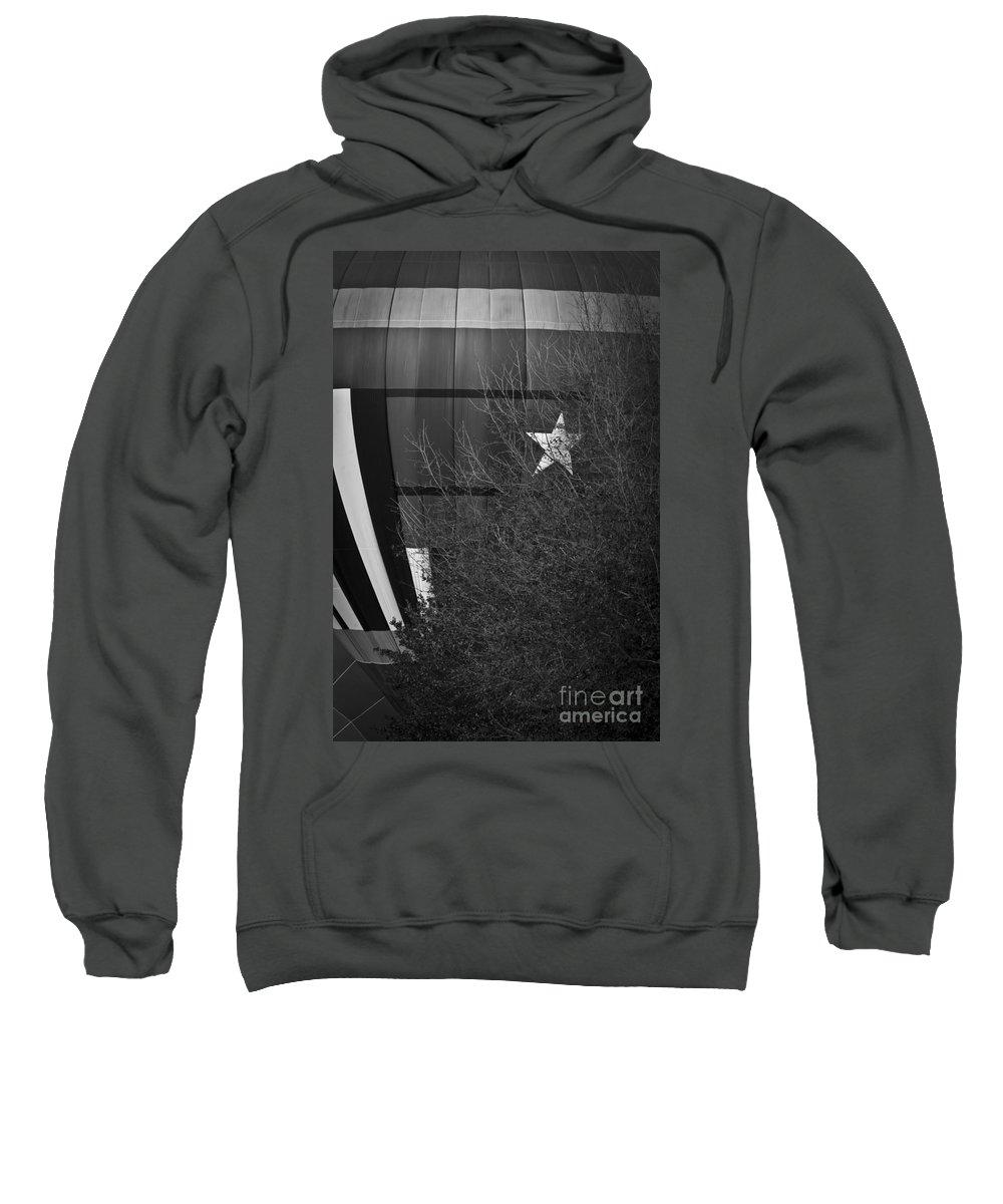 Hot Air Balloon Sweatshirt featuring the mixed media Texas Star by Kim Henderson
