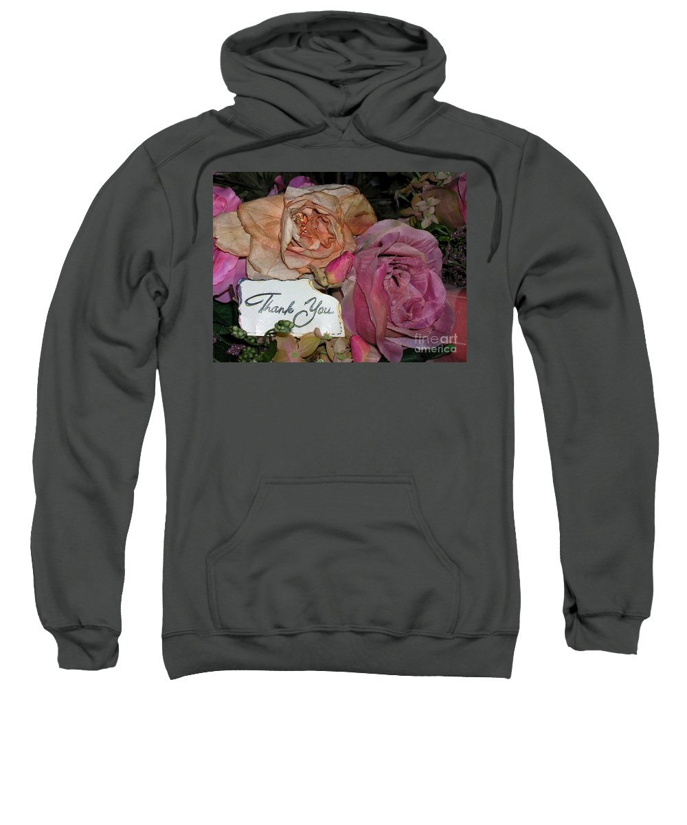 Thank You Sweatshirt featuring the photograph Thank You by Anthony Wilkening