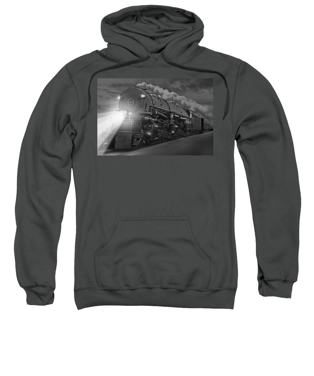 Transportation Sweatshirt featuring the photograph The 1218 On The Move by Mike McGlothlen