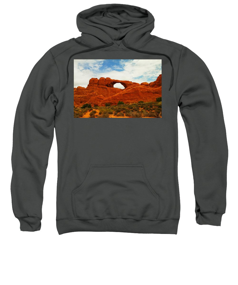 Arches National Park Sweatshirt featuring the photograph The Arches Of Utah by Jeff Swan