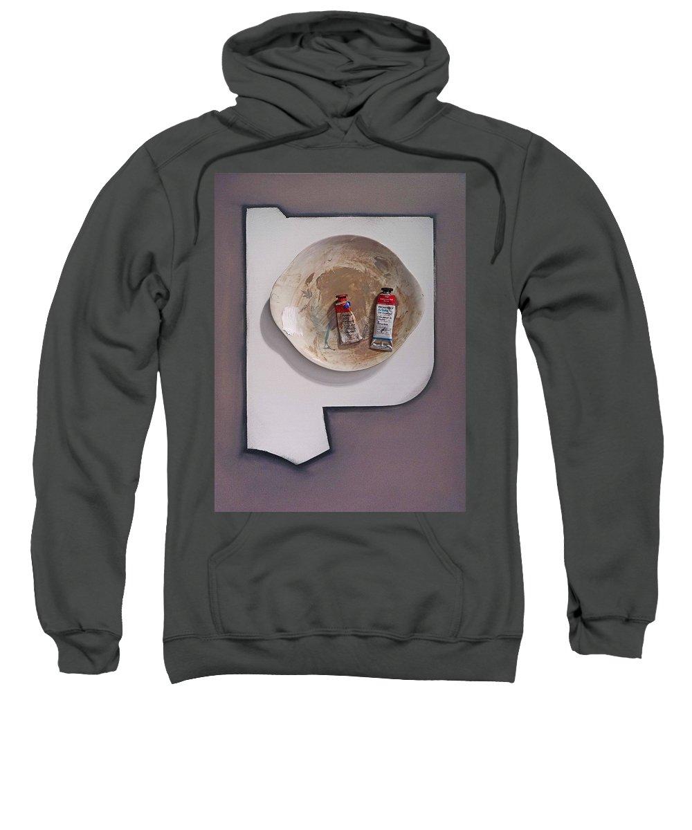 Kimono Sweatshirt featuring the painting The Artists Eye by Charles Stuart