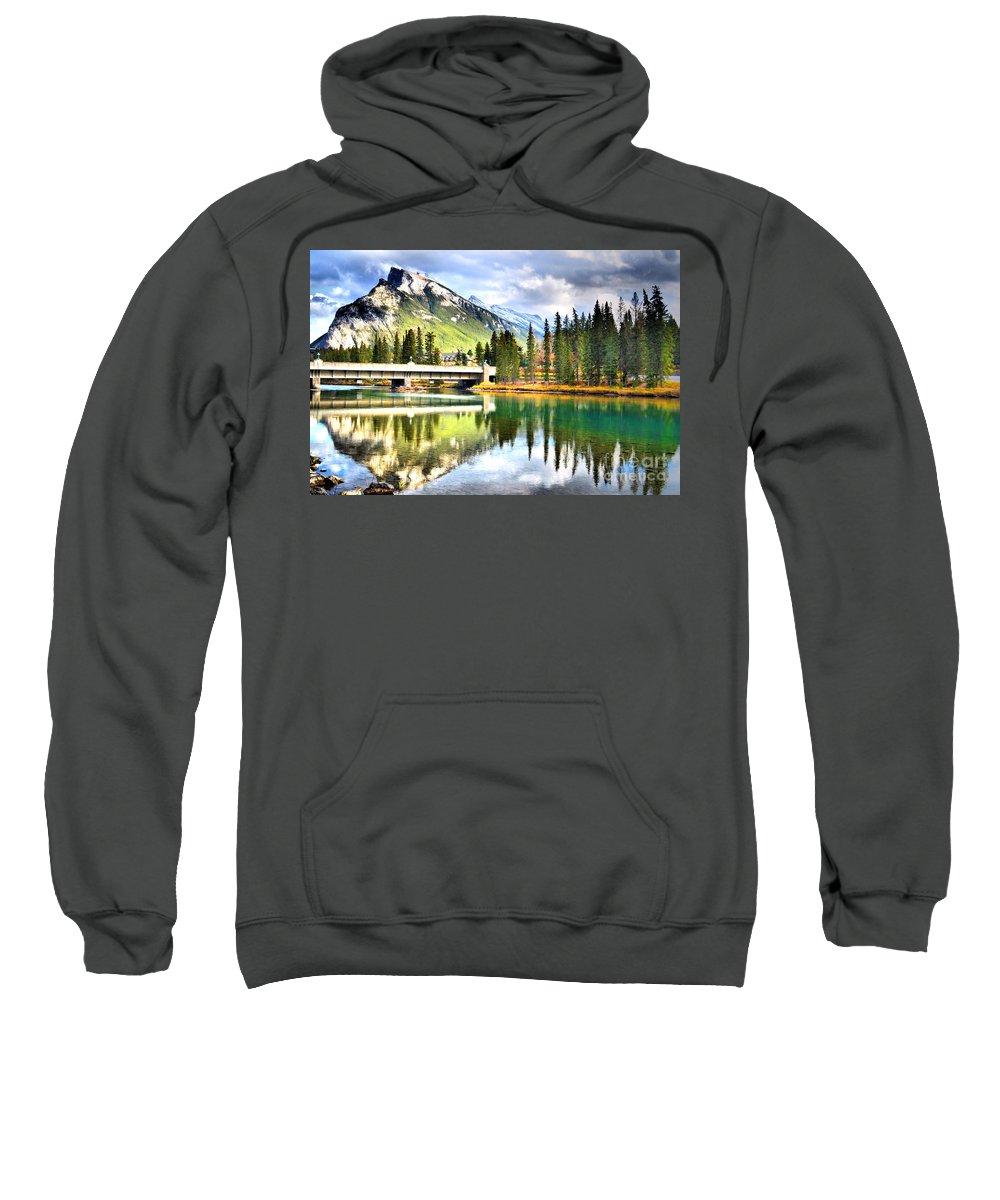 River Sweatshirt featuring the photograph The Banff Bridge by Tara Turner