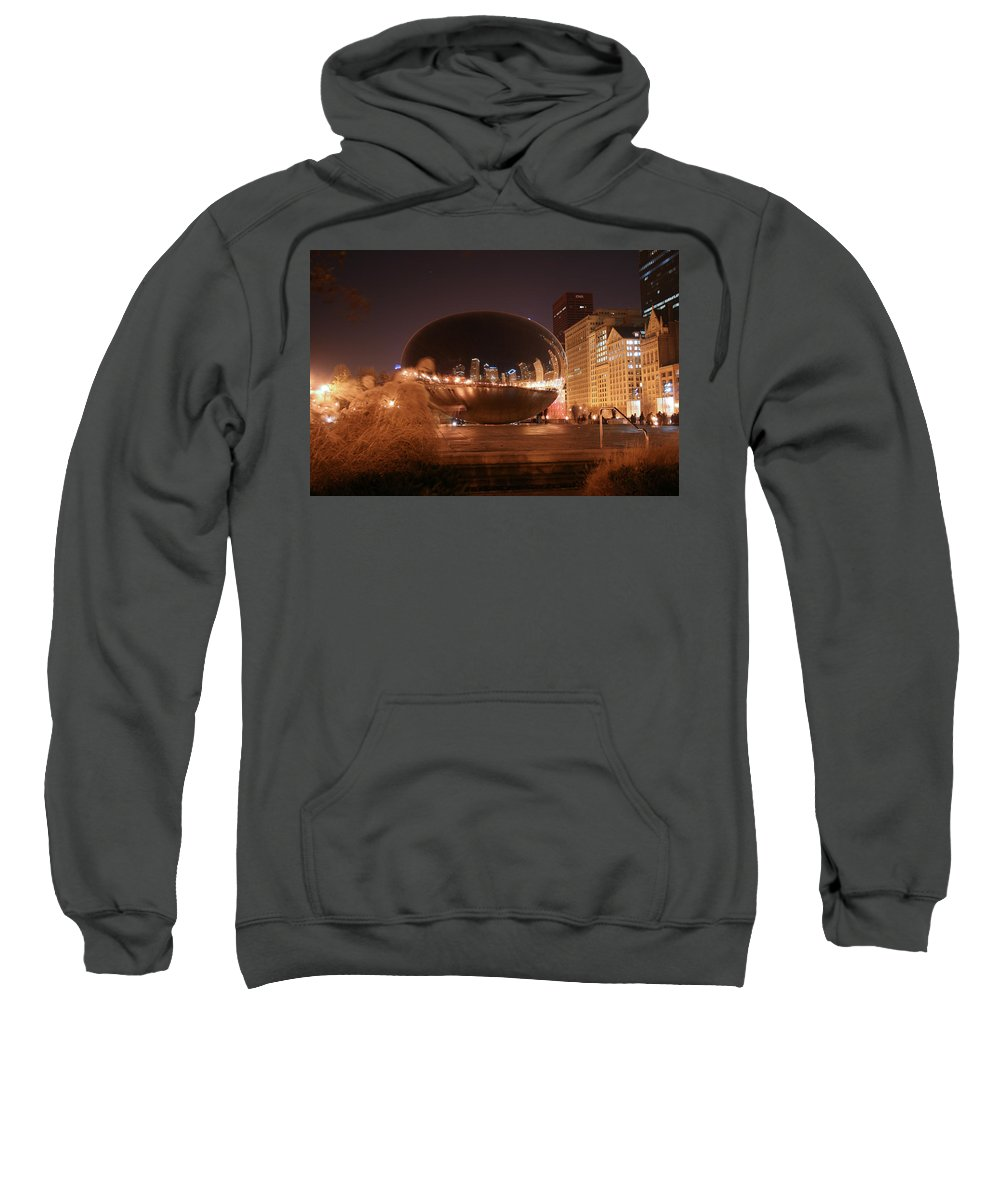 Bean Sweatshirt featuring the photograph The Bean On A Winter Night by Laura Kinker