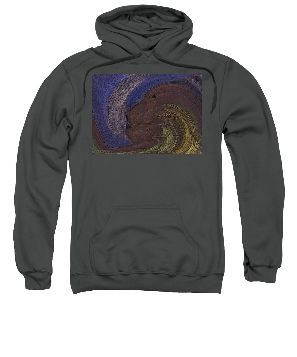 Animal Sweatshirt featuring the digital art The Beast by Melvin Moon