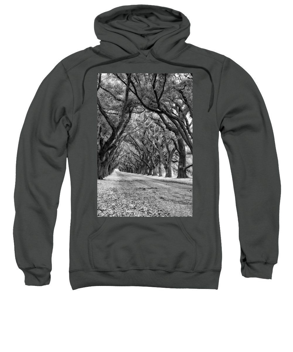 Evergreen Plantation Sweatshirt featuring the photograph The Deep South Monochrome by Steve Harrington