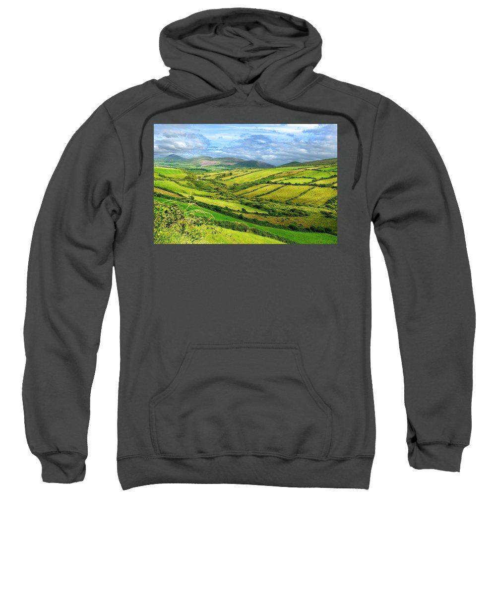 Ireland Sweatshirt featuring the photograph The Emerald Island by David Resnikoff