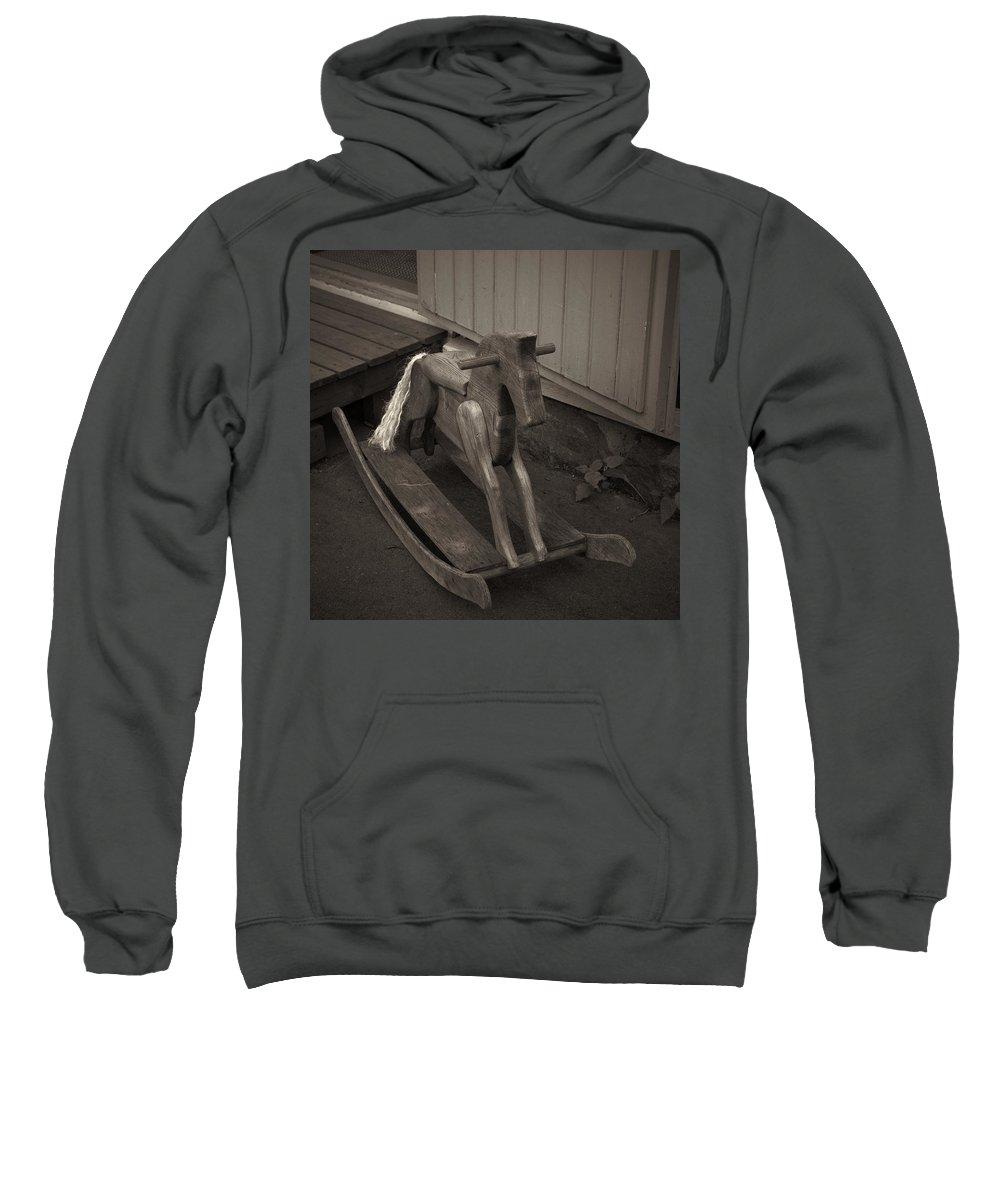 2012 Sweatshirt featuring the photograph The Horse On The Alley Of Pikku Pietari In Kuopio by Jouko Lehto