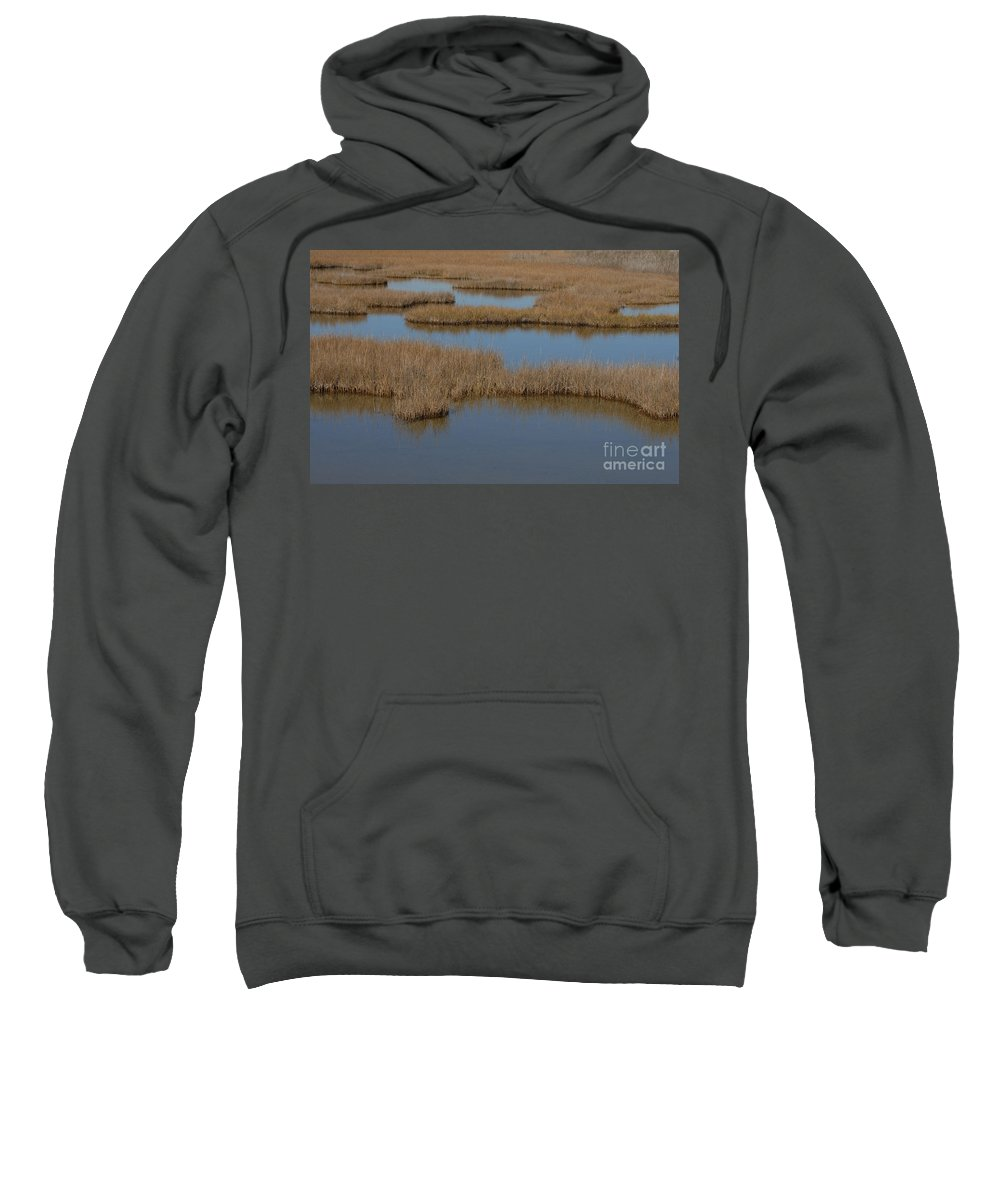 The Marsh Sweatshirt featuring the photograph The Marsh by Melody Jones