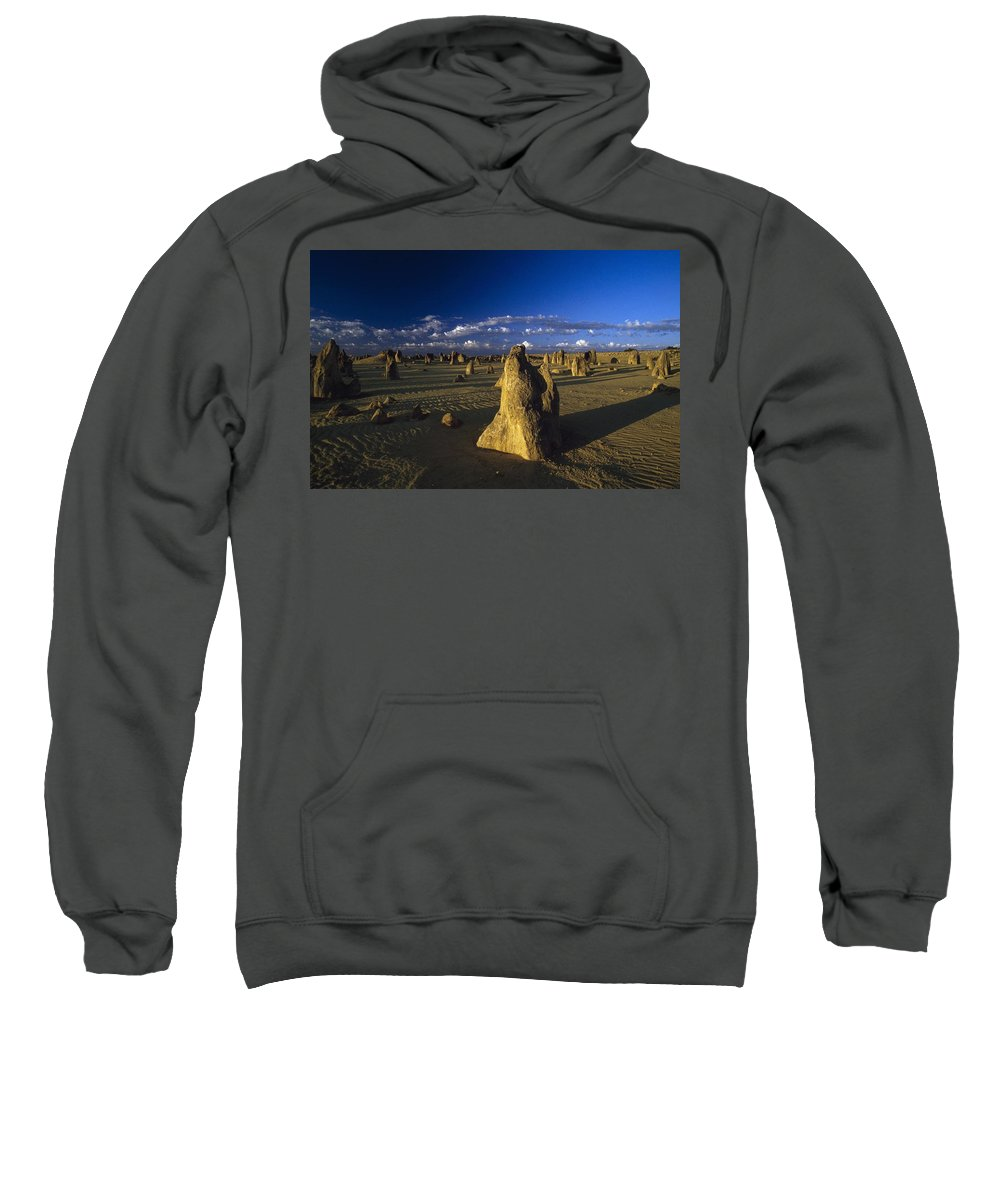 Photography Sweatshirt featuring the photograph The Pinnacles by Axiom Photographic