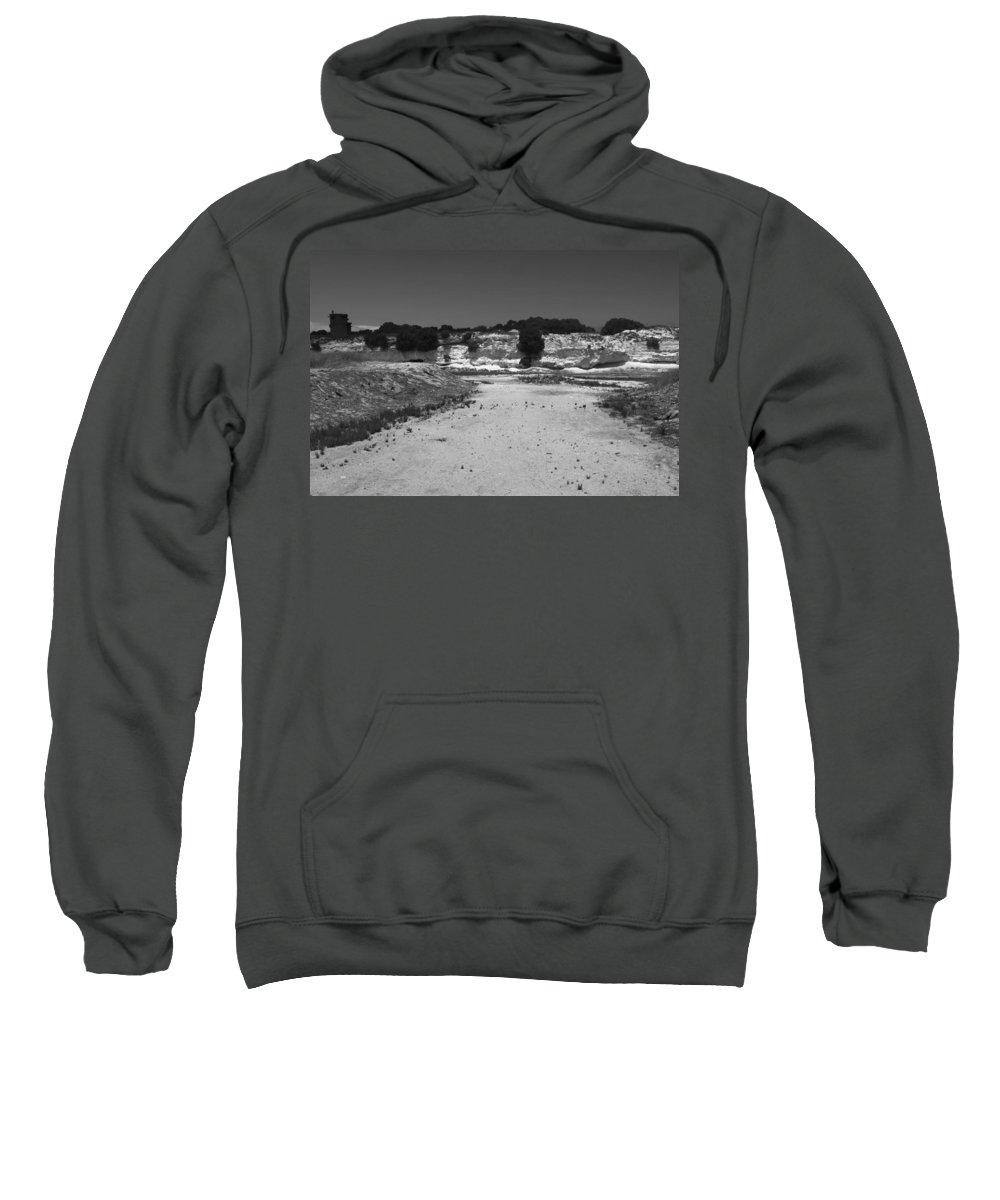 Robben Island Sweatshirt featuring the photograph The Quarry by Aidan Moran