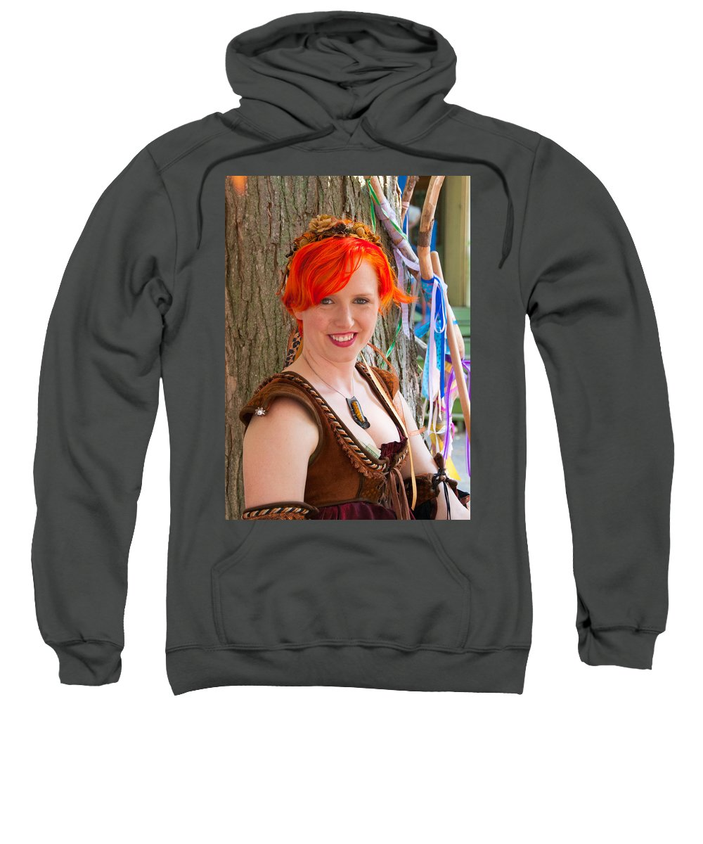 Festival Sweatshirt featuring the photograph The Rose Merchant by Guy Whiteley