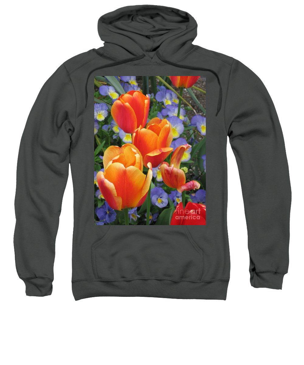 Tulips Sweatshirt featuring the photograph The Secret Life Of Tulips - 2 by Rory Sagner