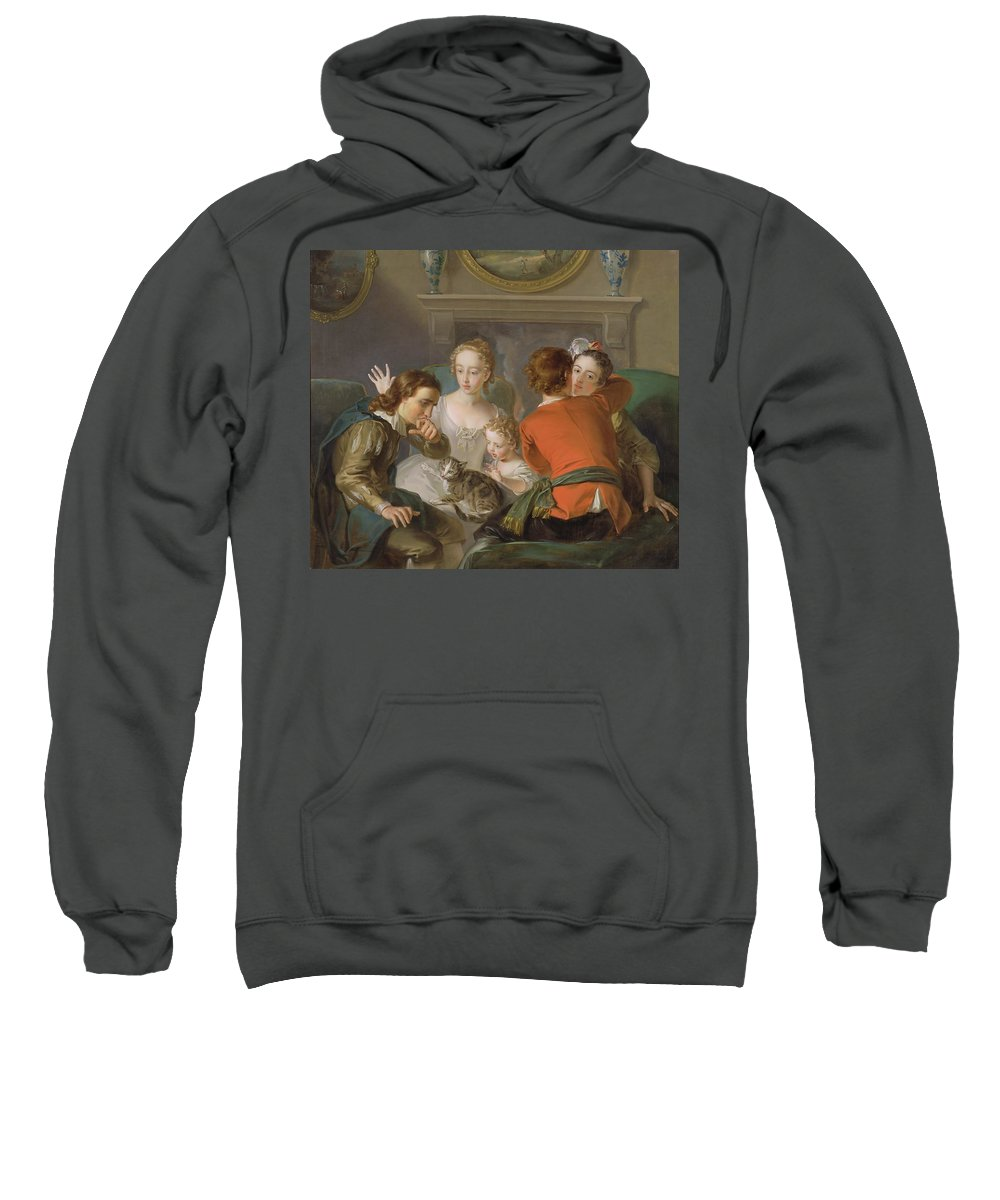 The Sweatshirt featuring the painting The Sense Of Touch by Philippe Mercier