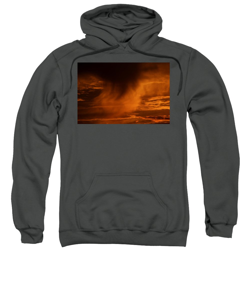 Clouds Sweatshirt featuring the photograph The Storm Is Brewing by Ericamaxine Price