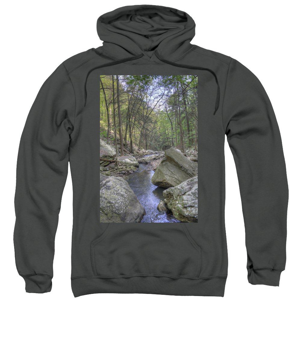 Cloudland Canyon Sweatshirt featuring the photograph The Stream by David Troxel