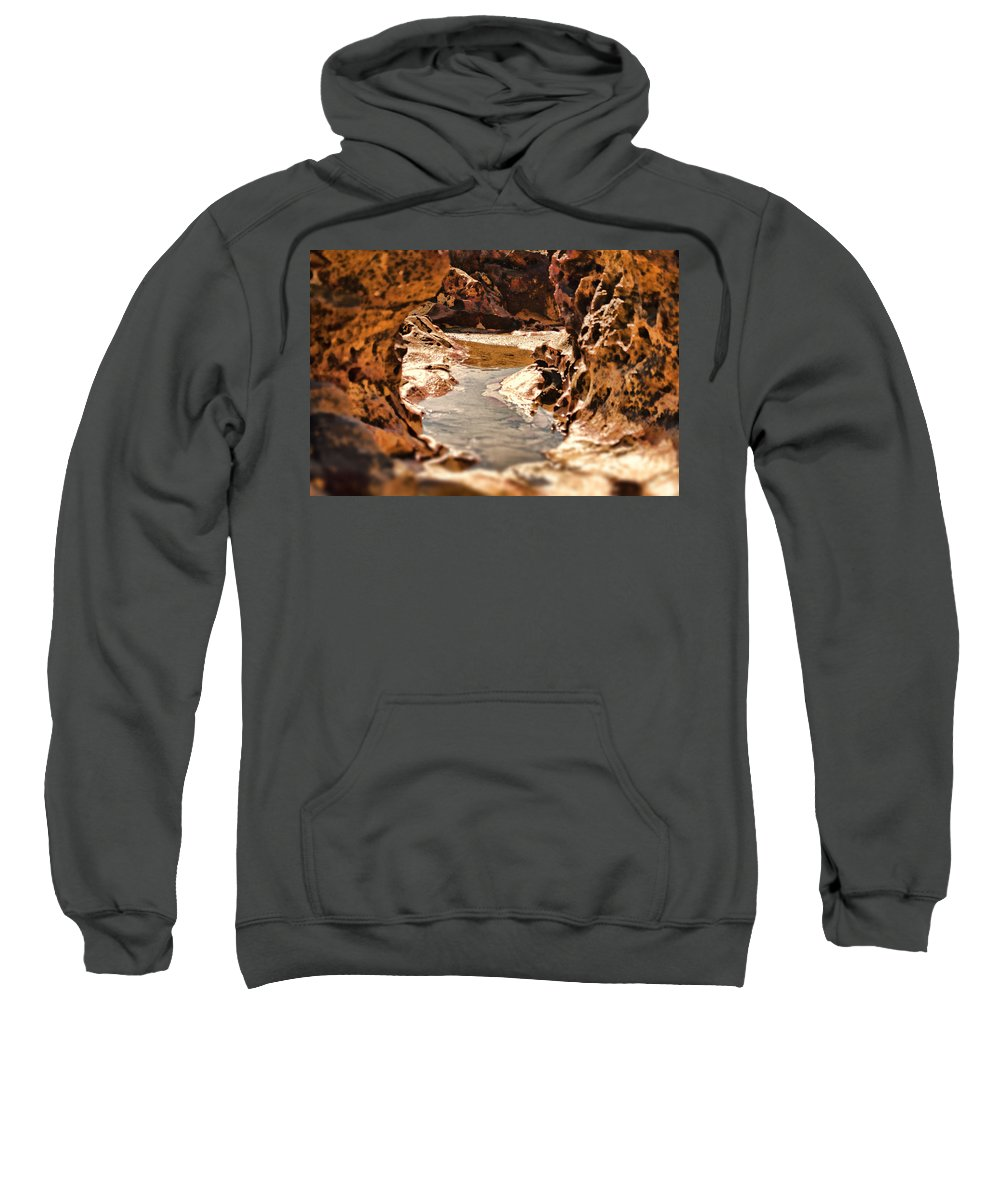 Rocks Sweatshirt featuring the photograph The Tide Is Out by Douglas Barnard