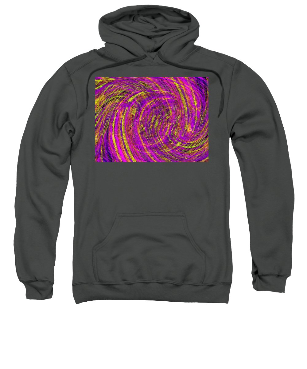 Abstract Sweatshirt featuring the digital art The Wave by Tim Allen