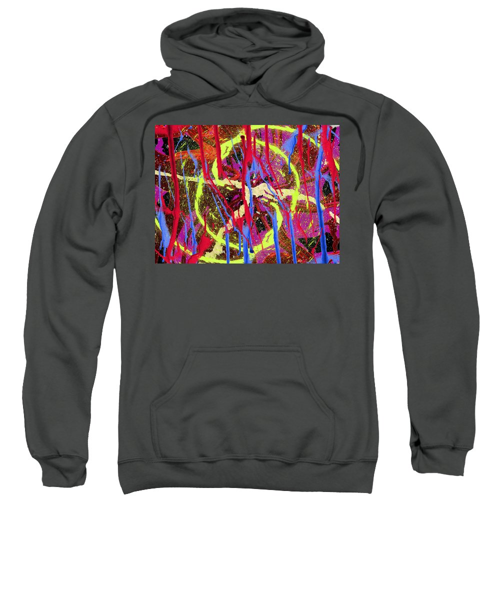 Abstract Sweatshirt featuring the digital art The Writing On The Wall 8 by Tim Allen