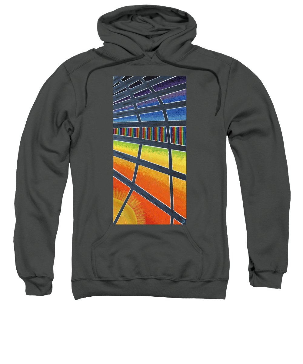 Windows Sweatshirt featuring the painting Through The Windows Of The Ship by Jeremy Aiyadurai