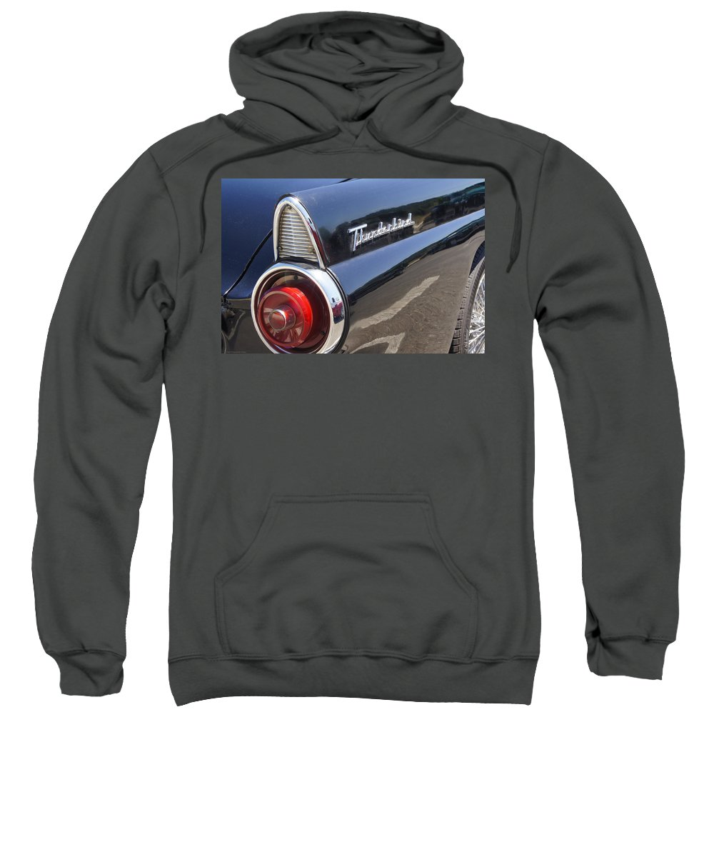 Ford Sweatshirt featuring the photograph Thunderbird Detail by Mick Anderson