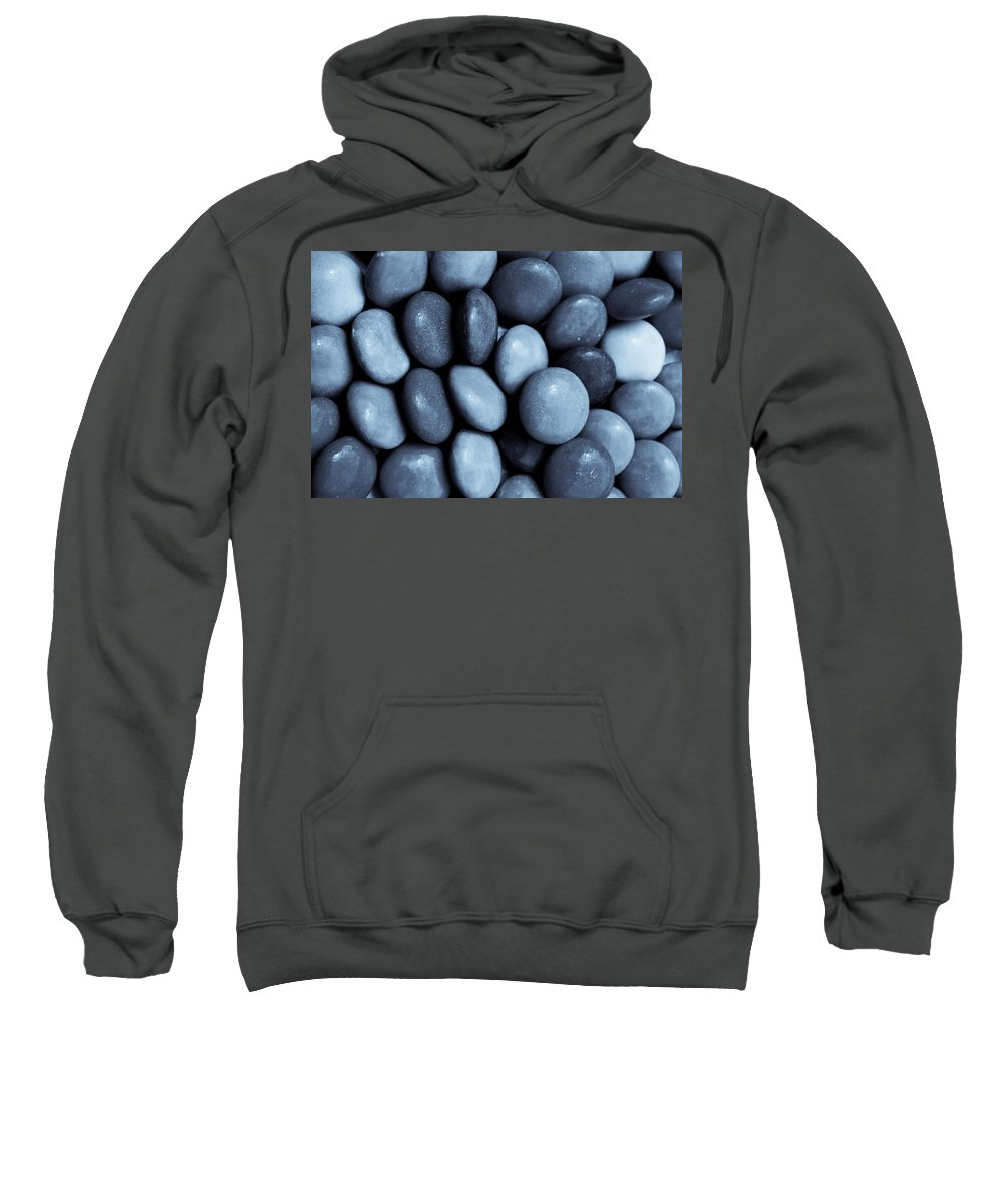 Negative Sweatshirt featuring the digital art Toned Abstract Art by David Pyatt