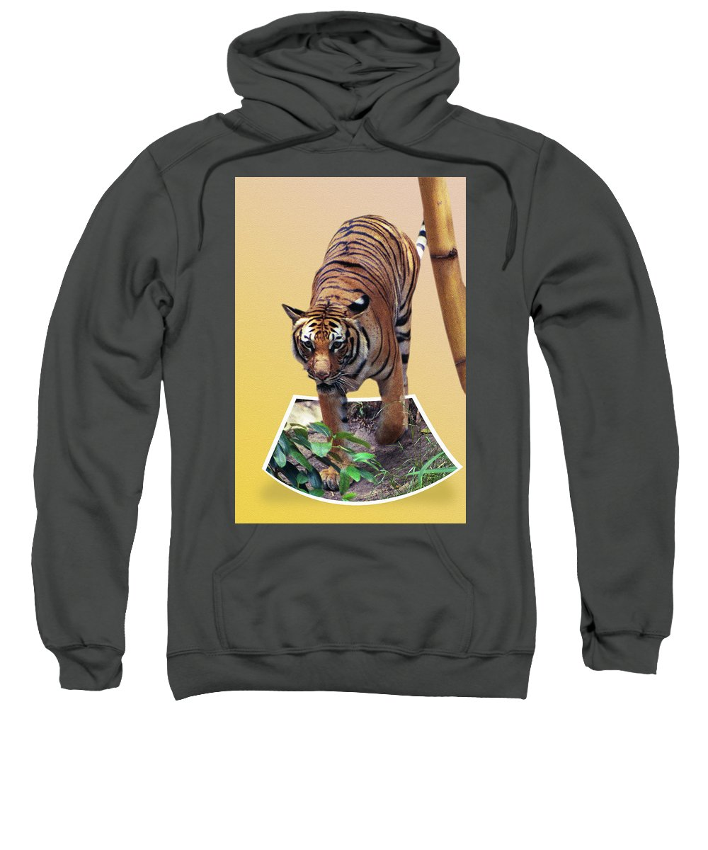 Sweatshirt featuring the photograph Too Late Dinner Time by Michael Frank Jr