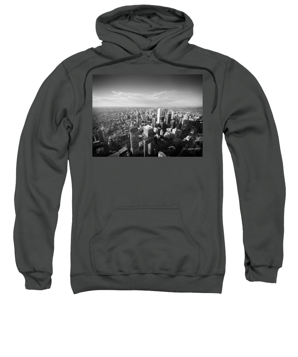 Toronto Sweatshirt featuring the photograph Toronto From Above by Alexander Voss