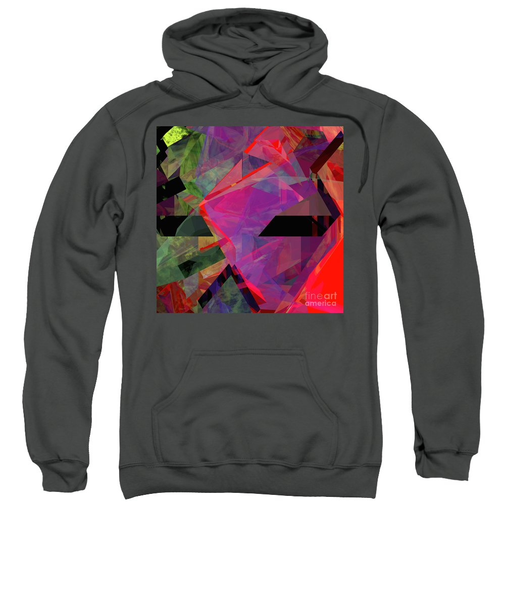 Abstract Sweatshirt featuring the digital art Tower Series 25 by Russell Kightley