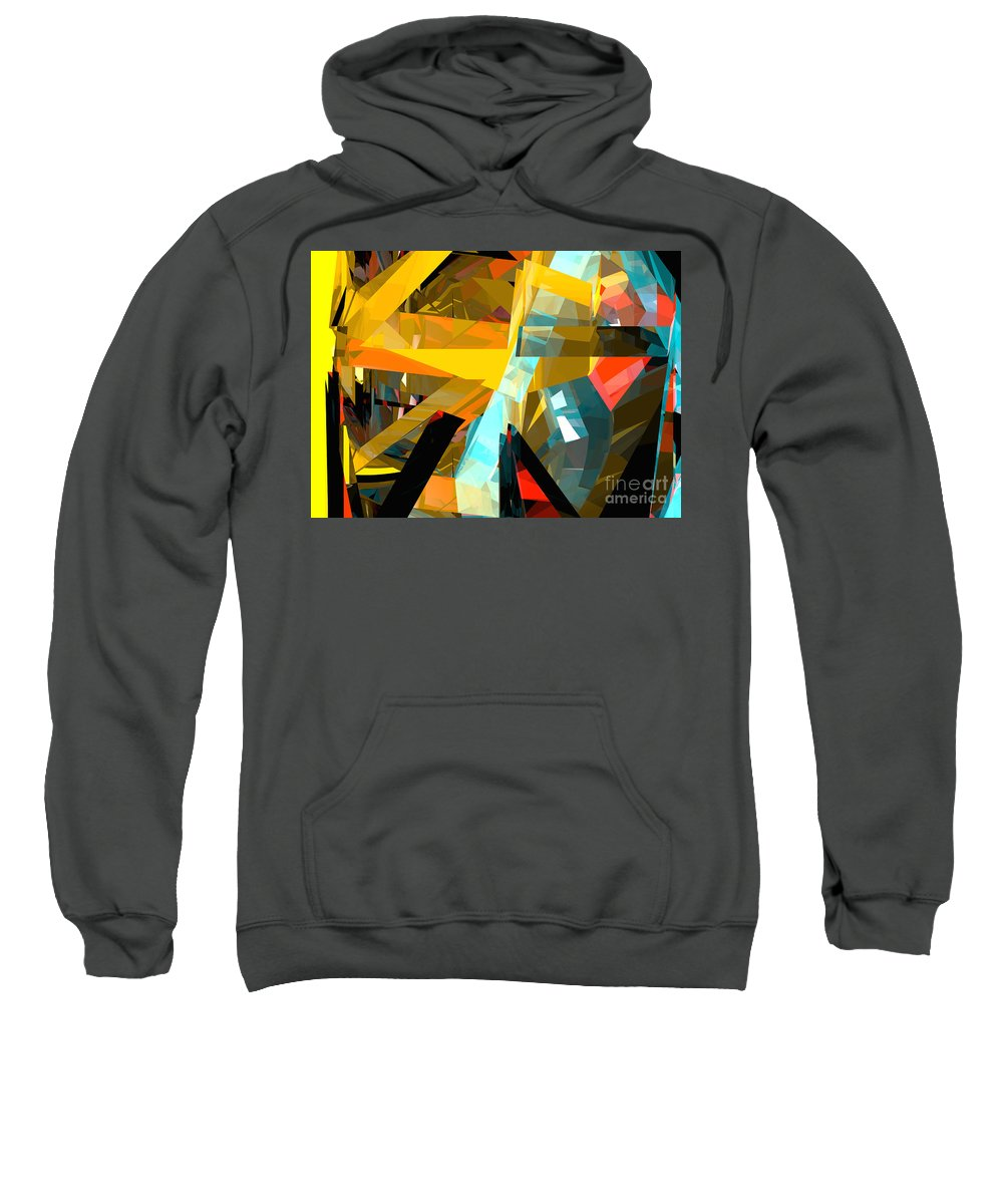 Abstract Sweatshirt featuring the digital art Tower Series 2b by Russell Kightley