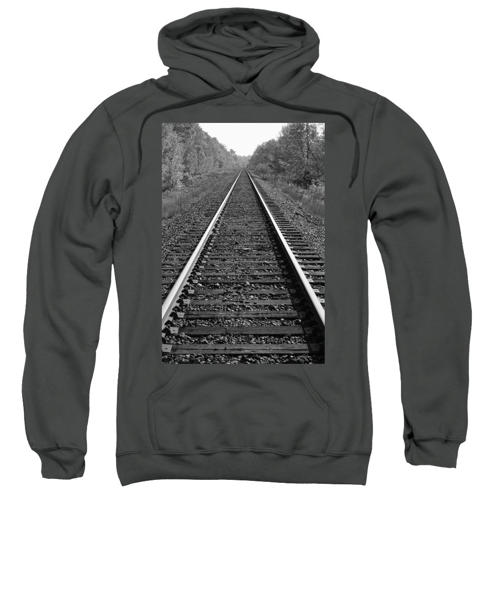 Direction Sweatshirt featuring the photograph Train Tracks by Design Pics BRO