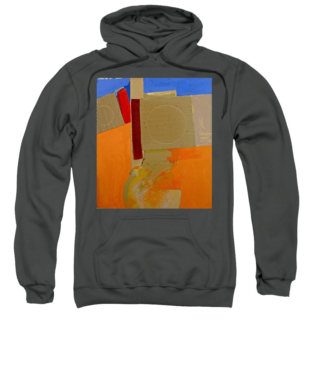 Abstract Paintings Sweatshirt featuring the painting Transition 4 Red Crepe by Cliff Spohn
