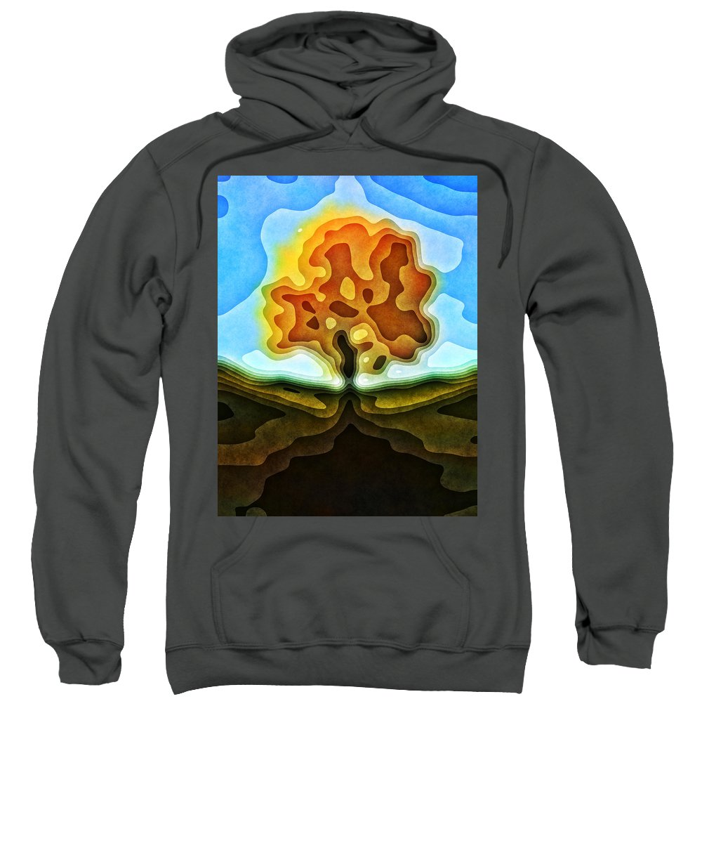 Tree Sweatshirt featuring the photograph Tree Abstract by David G Paul