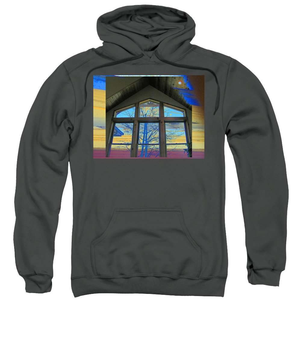 Abstract Sweatshirt featuring the photograph Tree Through The Window by Lenore Senior