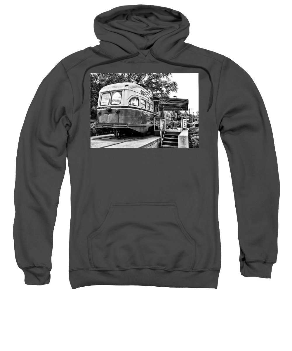 Trolley Sweatshirt featuring the photograph Trolley Car Diner - Philadelphia by Bill Cannon