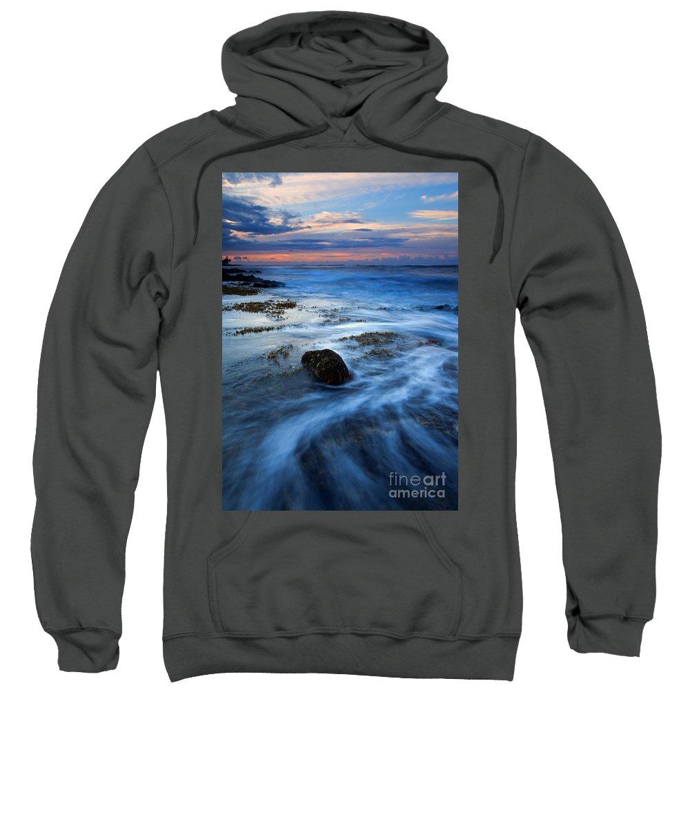 Koloa Sweatshirt featuring the photograph Tropical Sunrise Swirl by Mike Dawson