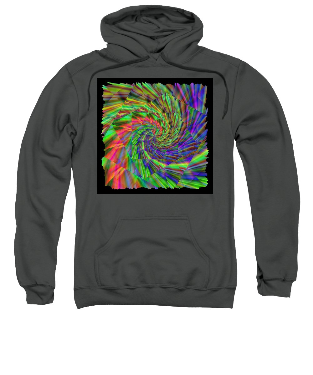 Rainbow Sweatshirt featuring the digital art Tumbling Down The Rainbow Highway by Tim Allen