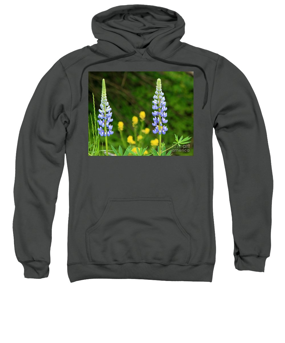 Squirrel Sweatshirt featuring the photograph Twin Towers Of Flower by Lloyd Alexander