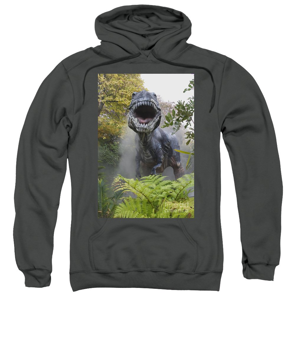 Rex Sweatshirt featuring the photograph Tyrannosaurus by David Davis and Photo Researchers