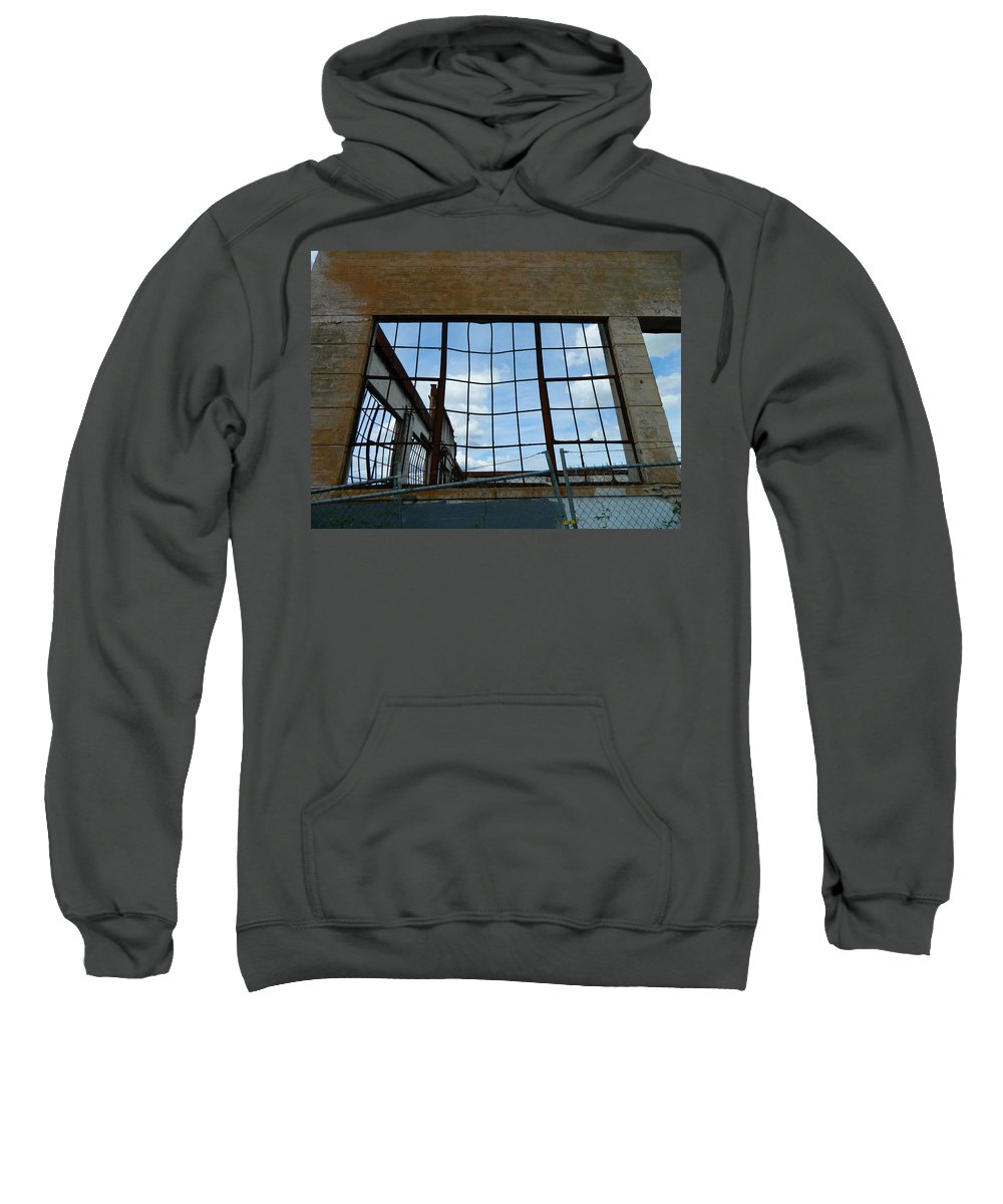Urban Sweatshirt featuring the photograph Urban Decay - The Sky Is The Roof by Kathleen Grace