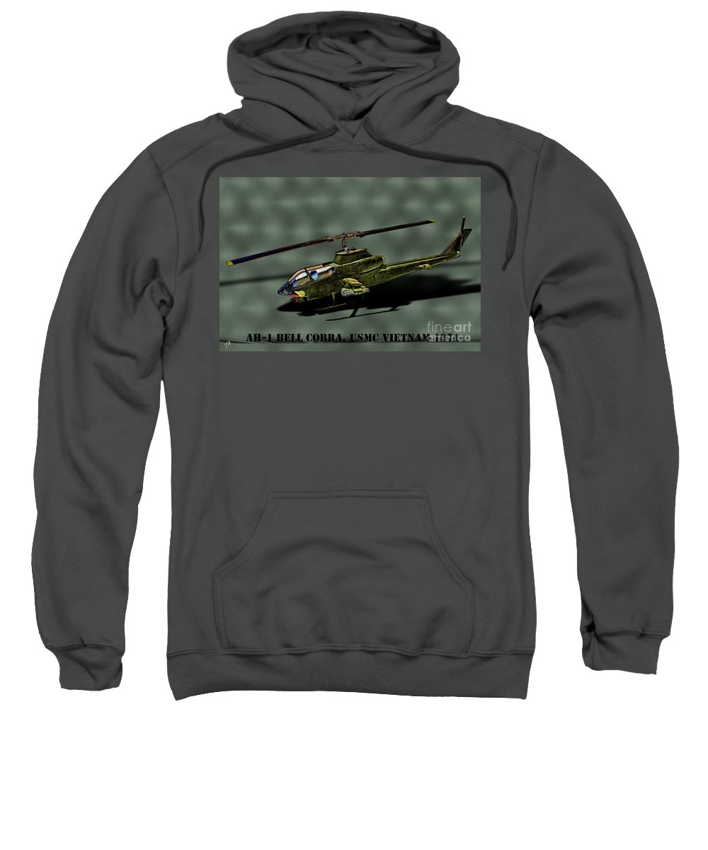 Bell Ah-1 Cobra Sweatshirt featuring the digital art Usmc Ah-1 Cobra by Tommy Anderson